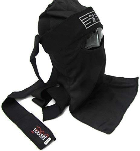 Kendo Shinobi Ninja Warrior Negro Máscara Set japonés (Aka) con Tenugui hachimachi Negro Spy banda para la cabeza bufanda 1Tamaño, disfraz infantil ...