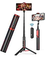 doosl Bluetooth Selfie Stick Tripod - Portable Wireless Selfie Stick for iPhone, Samsung, Huawei, Android Phones - Easy Taking Photos/Videos at Different Angles from Extended & Elevated Distances