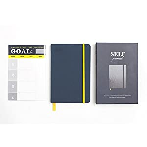 BestSelf Co. The SELF Journal - The Original Agenda Daily Planner and Appointment Notebook to Achieve Goals & Increase Productivity and Happiness. Undated Hardcover 8. 25 x 5. 5 Navy