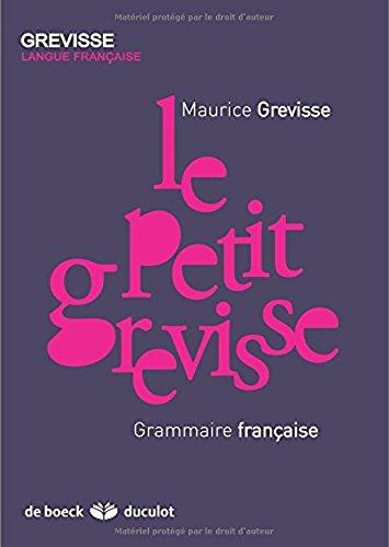 Le Petit Grevisse Grammaire Francaise [Pdf/ePub] eBook
