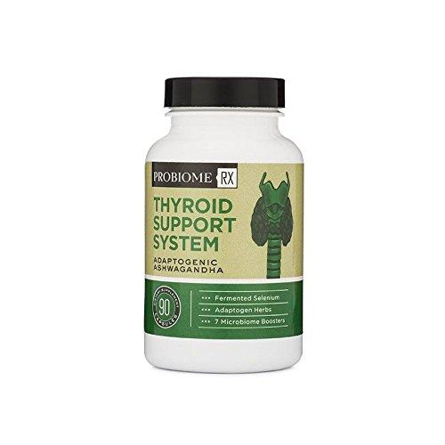 ProBiome Rx Thyroid Support System with Fermented Selenium and Adaptogen Herbs, 50 Billion CFUs Per Serving, Bacillus Subtilis, Bacillus Clausii, and Bacillus Coagulans, 90 Capsules