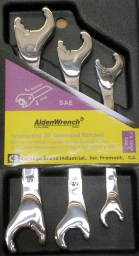 Aldenレンチ56038ダブルヘッドRatching open-endレンチ、3点セット、SAE by Alden  B01L4QCFHE