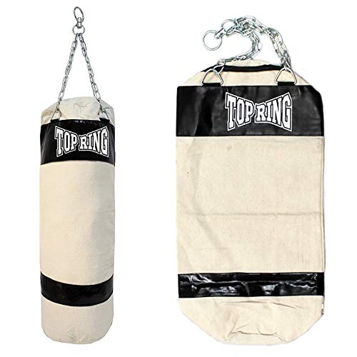 Top Ring Heavy Duty Empty Canvas Boxing Punching Bag Bag Chains MMA - Ring Canvas
