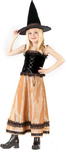 Fun World Elegant Witch Girl's Halloween Costume Size Small (4-6) -