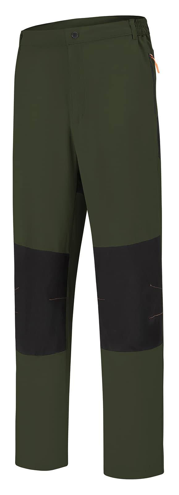 SPOSULEI Mens Hiking Athletic Pants Quick-Dry Lightweight Water Resistant Sweatpants with Zipper