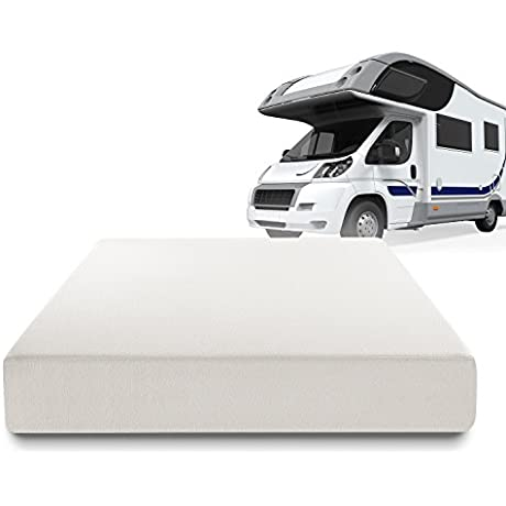 Zinus Deluxe Memory Foam 10 Inch RV Camper Trailer Truck Mattress Short Queen