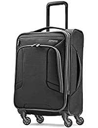 4 Kix Softside Luggage, Black/Grey, Carry-On