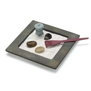 Gifts decor miniature table top zen rock garden mini tabletop set home kitchen - Zen garten miniatur set ...