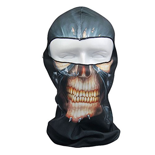 DDLBiz Thin 3D Outdoor Cycling Ski Balaclava Neck Hood Full Face Mask Hat Beanie Animal - 09 Beanie