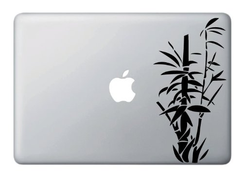 Bamboo - Black - Vinyl Laptop or Macbook Decal