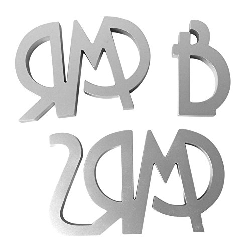 Catnew Wooden Letters Design Alphabet Mr Mrs Wedding Party Table Bridal Bride Decoration Accessories Ornament Gift (Silver)