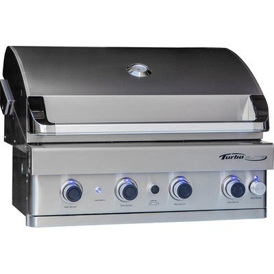 Turbo Elite 4-burner Built-in Gas Grill Fuel Type: Natural Gas Barbeques Galore