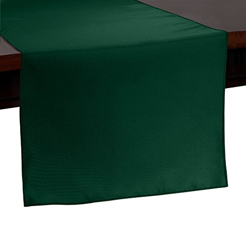 Ultimate Textile -2 Pack- 14 x 108-Inch Polyester Table Runner, Hunter Green