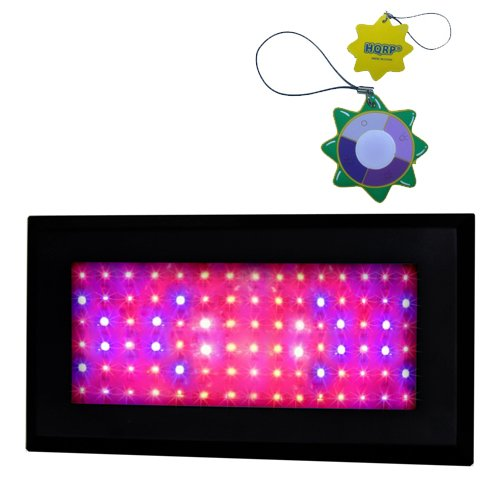 HQRP Professional Hydroponic and Flowering 270W Full Spectrum Plant Grow Light Panel High-Power 90 LED 6 Band 7200 Lumen with UV IR LED + UV Meter by HQRP