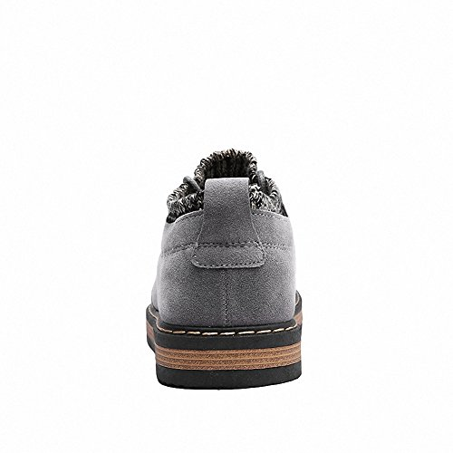 Ben Sports Mens Classic Suede Lace Up Flat Sneaker Loafer Slip on Shoes Grey YYZ9Q