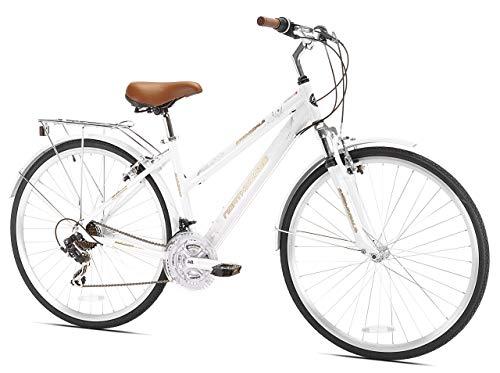 Kent Springdale Women's Hybrid Bicycle, White (Renewed)