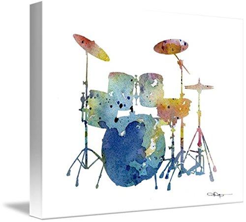 Imagekind Wall Art Print entitled Drum Set by David Rogers | 14 x 11 (Set Rogers Drum)