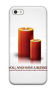 New Shockproof Protection Case Cover For Iphone 5/5s/ God Bless You Christmas Candles Case Cover