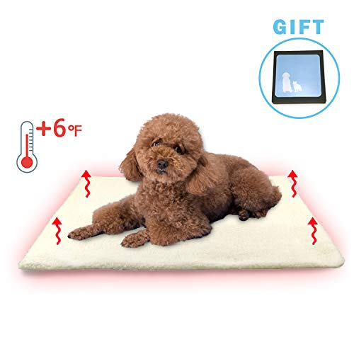 Faith Force Thermal Cat Mat Pet Dog Self Warming Pad 18″x24″ Large Size, Self Warming Heating Pad for Dogs & Cats Non-Slip Innovative,Eco Friendly & Comfortable