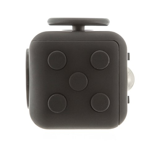 FocusCube - Fidget Cube Toy For Anxiety Stress Relief Attention Focus For Children / Adult Gift ADHD (Dark Moon)