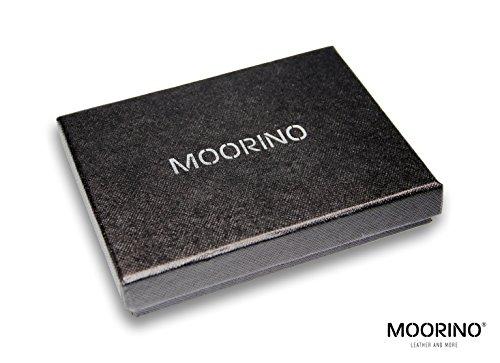 Cuir Nappa Billets En Et Original Moorino Fin Designer Homme Avec De Rfid Pince Pour Porte Protection cartes Mini monnaie Porte À pqUgn1