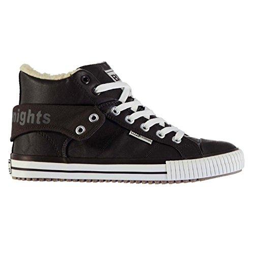 British Knights ROCO Fell Hi Casual Turnschuhe Herren BRN Fashion Turnschuhe Sneakers