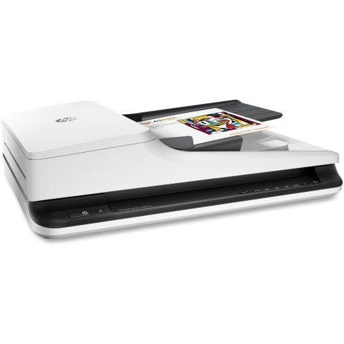 HEWLETT-PACKARD Government HP ScanJet Pro 2500 f1 Flatbed Scanner (20 ppm) (40 ipm) (8.5 x 14) (1200 dpi Optical) (24-bit Color) (Duplex) (USB) (50 Sheet ADF) / L2747A#201 /
