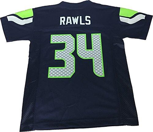 Thomas Rawls Seattle Seahawks #34 Navy NFL Youth Home Mid Tier Jersey (Medium 10/12)