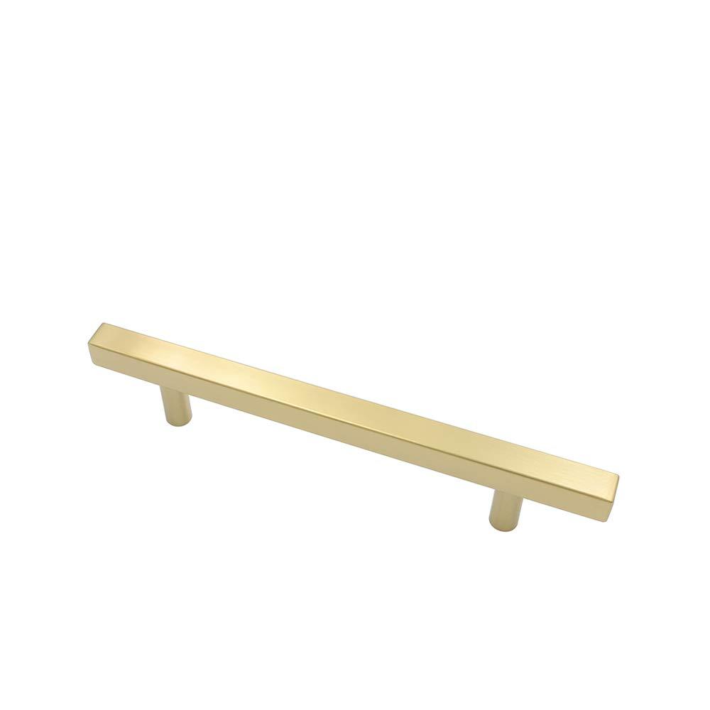 Surface en laiton Vis incluses 5 poign/ées de meuble LS1212GD en acier inoxydable