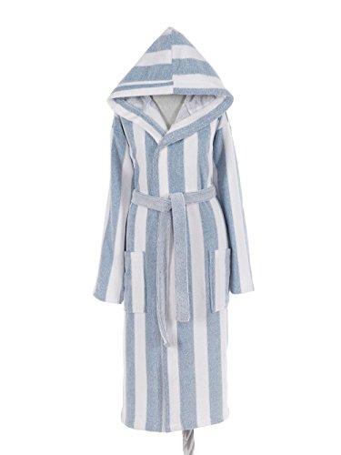 Striped Mens Robe - Casamode Bathrobe, White
