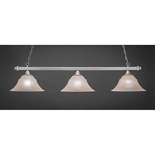 (Three Light Bar with 14 in. Italian Marble Glass Shade)