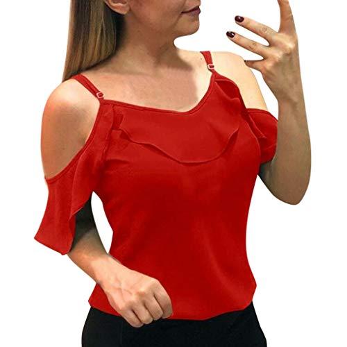 Sexy Crop Tops Women Short Sleeve Stripe Print Bandage Knot Blouse Beach Wrap ()