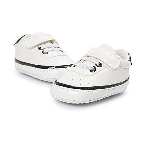 27c0748026654 Chaussures de bébé Auxma Chaussures Bébé garçon fille Baskets en cuir PU  avant bébé ...