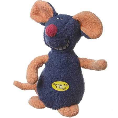 """Multipet Deedle Dudes Mouse Dog Toy 8"""""""