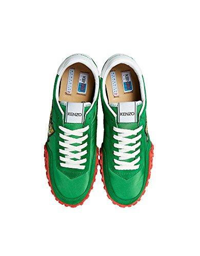 Kenzo Ladies F851sn122f9257 Sneakers In Poliammide Verde