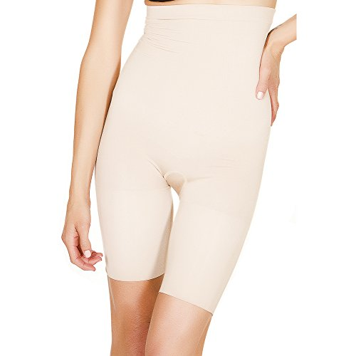 d19e7c3261cbb Black Fuchsia by Secret Lace Women s Shapewear Seamless Body Shaper Half-Slip  High Waist Thigh Slimmer Shorts - Buy Online in UAE.