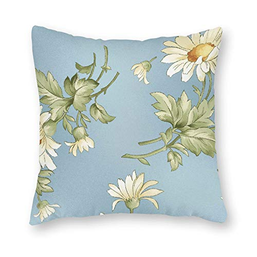 (DKISEE Decorative Tossed Daisies Square Throw Pillow Cover Canvas Pillow Case Sofa Couch Chair Cushion Cover for Home Decor)