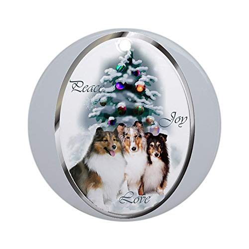 CafePress Shetland Sheepdog Christmas Ornament (Round) Round Holiday Christmas Ornament
