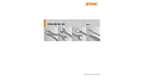 04552120123 stihl ms 341 ms 361 chainsaw printed service manual rh amazon com stihl ms 361 owners manual stihl ms 361 owners manual