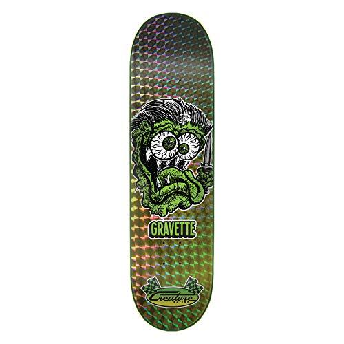 かすれた投げる魅力的Creature スケートボードデッキ グラベット ブレード フィンク 8.25インチ