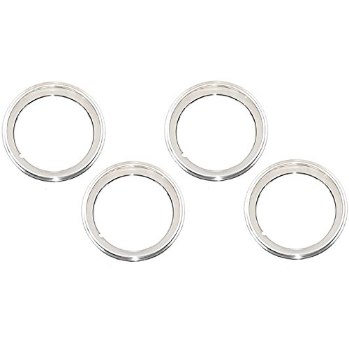 Eckler's Premier Quality Products 33179373 Camaro Rally Wheel Trim Ring Set 15 x 6 With Inside StyleClips