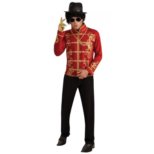 Michael Jackson Adult Costume Red Military Jacket - Large -