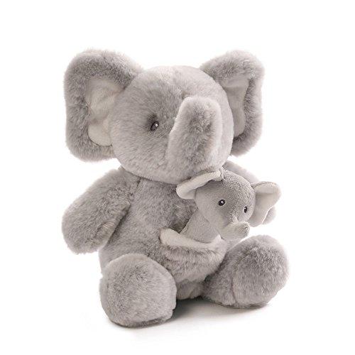 Gund Baby Oh So Soft Elephant & Rattle - Tone Elephant Two