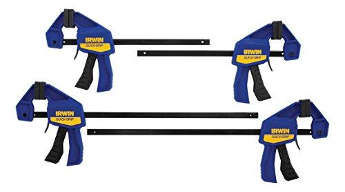IRWINQUICK-GRIPOne-Handed Mini Bar Clamp 4 Pack, (2) 6