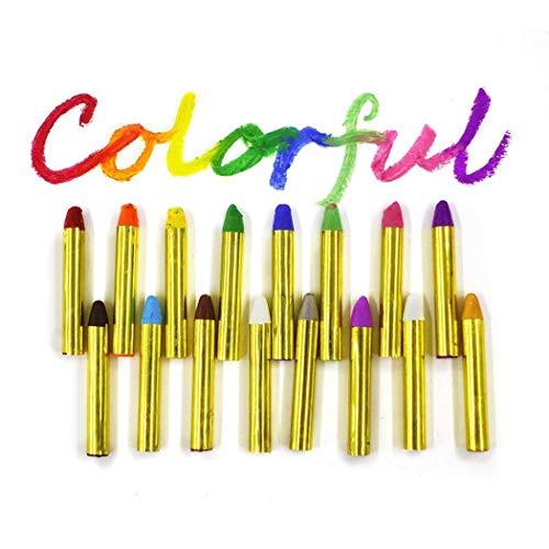 partm Children's Face Color Crayons Kit Body Oil Paint Clown Fans Devil Ghost Party]()