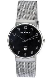 Skagen Men's O355LSSBA Skagen Denmark Grey Steel black dial Watch