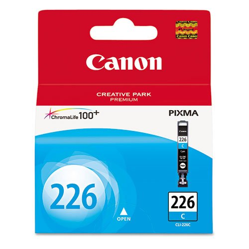 Canon CLI-226 Cyan Ink Tank Compatible to iP4820, MG5220, MG5120, MG8120, MG6120, MX882, iX6520, iP4920, MG5320, MG6220, MG8220, MX892 (Canon Ink Cartridges 225)