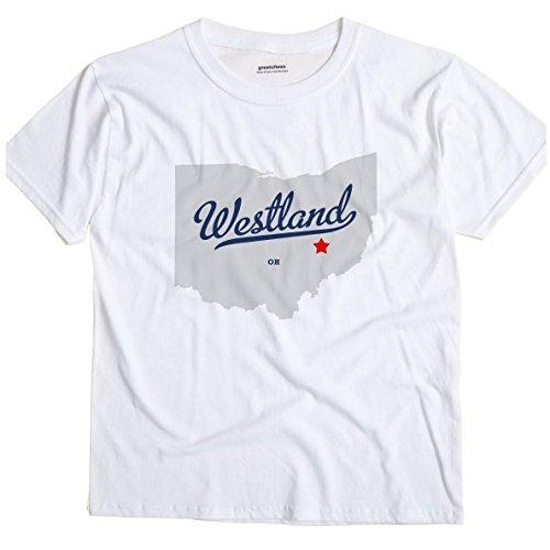 Westland Ohio OH MAP GreatCitees Unisex Souvenir T - Map Westland