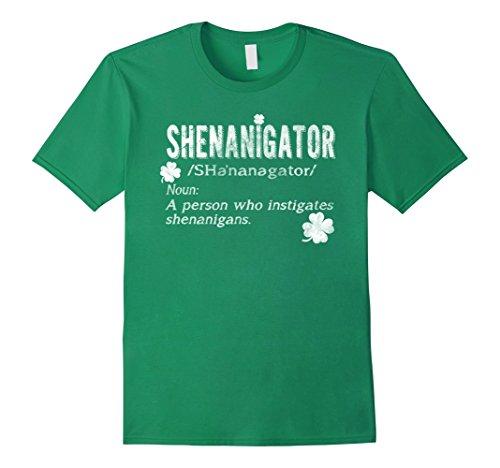 Men's Shenanigator Irish Shirt St. Patrick day XL Kelly Green