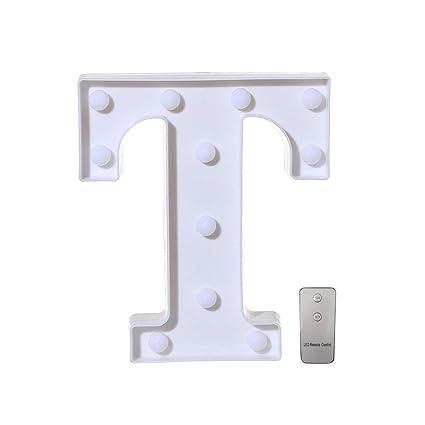 HighlifeS - Letra LED con 26 letras del alfabeto para boda ...